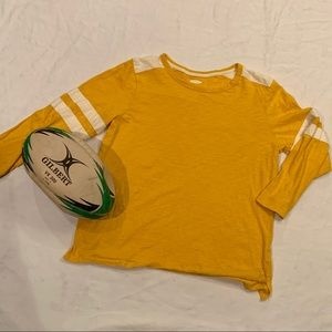 Old Navy, yellow and white long sleeve